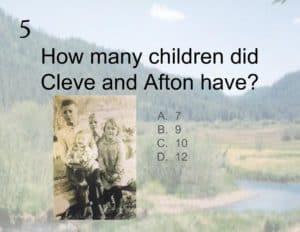 Google Slides Family Reunion Quiz -- Boundless Genealogy