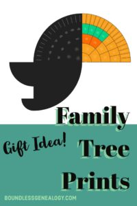 Family Tree Prints- A Great Gift Idea -- Boundless Genealogy