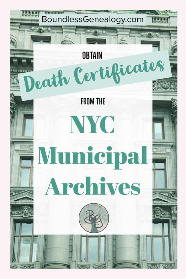 Obtain death certificates from the nyc municipal archives death certificates from the nyc municipal archives boundless genealogy 1betcityfo Image collections
