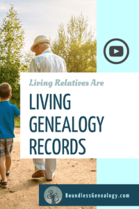 Living Relatives are Living Genealogy Records. Learn how to take to them about your shared ancestors.